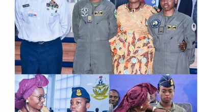 Photo of The Nigerian Air Force   wings first female pilots