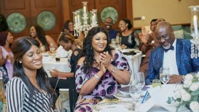 Photo of Dino Melaye Hosts Omotola Jalade-Ekeinde, Daughter In Dubai (Photos)