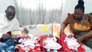 Photo of Man whose wife had quadruplets after 15 years' delay, recounts what they went through