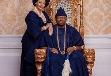 Photo of Oba Elegushi celebrates first wife, Olori Sekinat, weeks after picking a 2nd wife