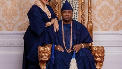 Photo of Oba Elegushi celebrates first wife, Olori Sekinat, weeks after picking a 2nd wife