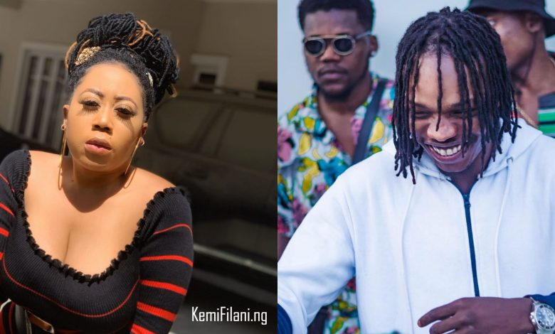 Moyo Lawal reacts to Naira Marley's 'Big butt, masters degree' tweet