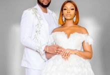 Photo of First lovely photos from #BamTeddy's white wedding in Dubai today