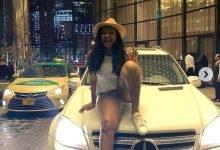 Photo of Etinosa flaunts the Mercedes Benz she got as gift in Dubai (Photo)