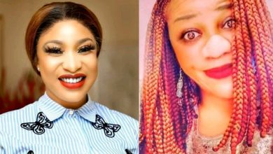 Photo of Tonto Dikeh allegedly shares picture of Stella Dimoko Korkus' husband who is 'alcoholic and a shoplifter'