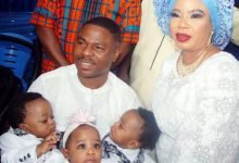 Photo of Yinka Ayefele's triplets mark first birthday (photos, videos)