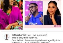 Photo of Betty Irabor sends strong message to ladies as Fatoyinbo wins against Busola Dakolo