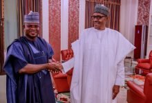 Photo of President Buhari reacts to re-election of Yahaya Bello as Kogi state governor