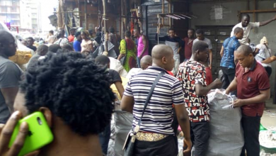 Photo of Panic as Balogun Market goes up in flames (photos)