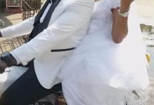 Photo of Commotion as couple ride bike home after their wedding in Port Harcourt (Photos)