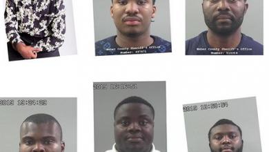 Photo of 8 men arrested for defrauding elderly widows of $6m