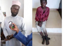 Photo of Dad chains 10-yr-old son for skipping school and keeping late nights
