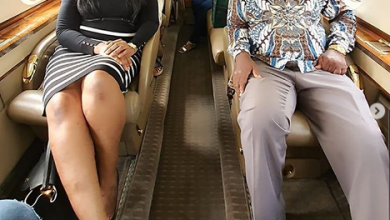 Photo of Linda Ikeji and dad fly a private jet for the first time (photos)