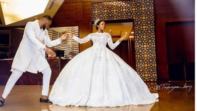 Photo of Beautiful moments from Bambam and Teddy A's white wedding in Dubai (photos, videos)