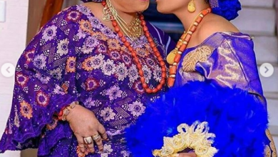 Photo of Toyin Tomato shows off favorite portraits from daughter's wedding