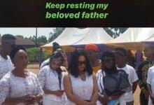 Photo of BBNaija's Nina buries dad amidst tears (photos)