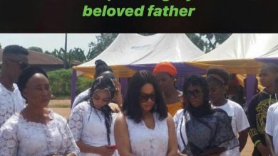 Photo of BBNaija's Nina buries dad amidst tears (photos)
