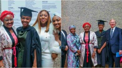 Photo of President Buhari's daughter graduates with 1st class from UK University (photos)