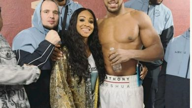 Photo of Anthony Joshua's sister quotes Bible passage in celebration of his victory