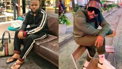 Photo of Timaya and Hushpuppi lampoon each other over celebrities that wear fake designers