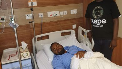 Photo of Deji Adeyanju hospitalized in Dubai after attack during protest in Abuja