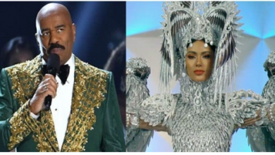 Photo of Steve Harvey announces wrong winner during beauty pageant again