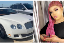 Photo of Check out Bobrisky's brand new Bentley