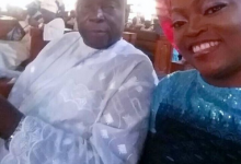 Photo of Funke Akindele's dad's burial holds in her absence (photos)