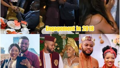 Photo of Commotion!  2018 engagement photo of Sandra Ikeji surfaces as she marries different man