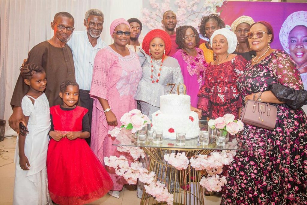 Ex BBNaija star Bisola Aiyeola's mum turned 70 and the star celebrated her mum in an exciting way. The star who said her mum told her she was proud of her shared more photos