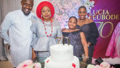 Photo of Exclusive photos from BBNaija's star Bisola Aiyeola's mum 70th birthday
