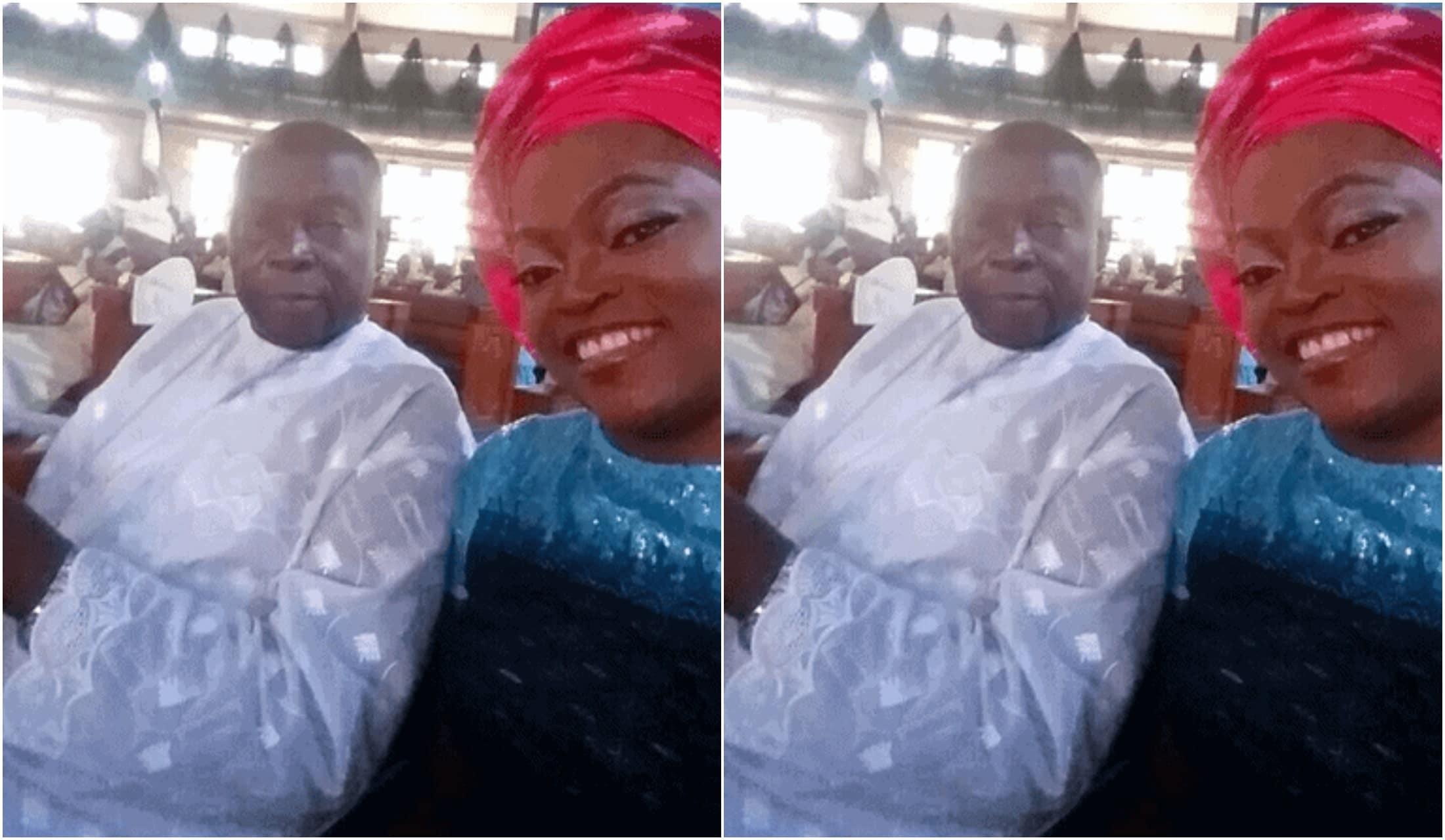 Funke Akindele dad's burial