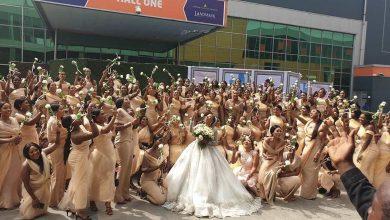 Photo of Sandra Ikeji shuts down Lagos with 200 bridesmaids (photos)