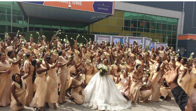 Photo of First photos from Sandra Ikeji wedding as she makes history with 200 bridesmaids