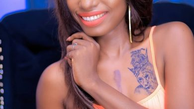 Photo of Tanzanian singer, Hawa reveals why she drew tattoo of Diamond Platnumz on her bust