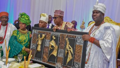 Photo of Ooni of Ife and entourage given grand reception by Yoruba Community in Accra, Ghana (Photos)
