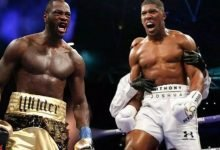 Photo of Deontay Wilder and Anthony Joshua hold talk on heavyweight boxing fight