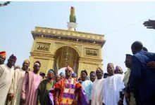 Photo of Oluwo of Iwo, Oba Abdulrasheed Akanbi unveils Telu Towers (Photos)