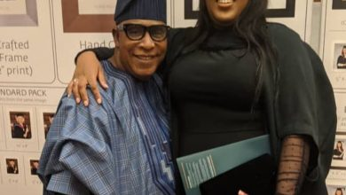 Photo of Adebayo Salami celebrates daughter on her postgraduate convocation in UK