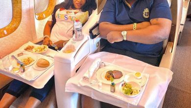 Photo of After speaking on spending on side chick, Cubana Chief Priest takes wife to Dubai for her birthday (Photos)