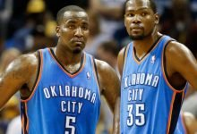 Photo of Kendrick Perkins apologies to Kevin Durant in honor of Kobe Bryant