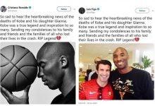 Photo of Luis Figo accused of plagiarizing Ronaldo's condolence message to Kobe Bryant