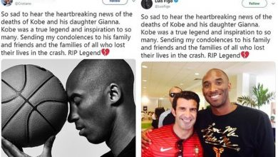 Photo of Luis Figo accused of plagiarizing Ronaldo's condolence message to Kobe Bryant