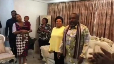 Photo of Rochas Okorocha and Senator Hope Uzodinma reconcile and celebrate win
