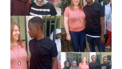 Photo of True Love? A 46-yr-old American mom arrives Kano to marry 23-yr-old boy she met online