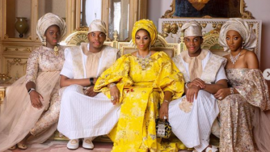 Photo of Sade Okoya releases new family portrait after Chief Rasaq's earth-shaking 80th birthday