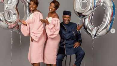 Photo of 30 and 60! Twin dad and twin daughters mark birthday on same day… (photos)