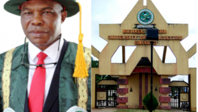 Photo of VC allegedly impregnates a third year student and upgrading her to final year status