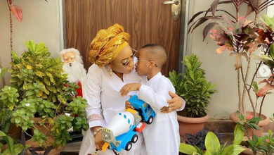 Photo of Tonto Dikeh reunites with son after weeks of being forced to stay in Dubai (photos)