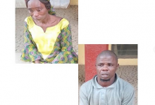 Photo of Couple tie their daughter to the ceiling and set fire under her over N3k theft